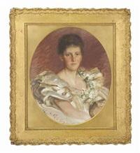 portrait of mrs leila de lisle by sigismund christian hubert goetze