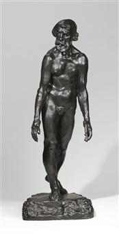 l'un des bourgeois de calais: eustache de saint-pierre, étude de nu pour la deuxième maquette by auguste rodin