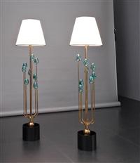 due lampade da terra cotone by roberto giulio rida