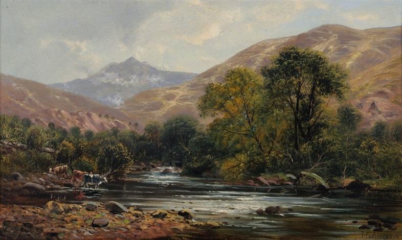 snowdon from the river glaslyn by john gunson atkinson