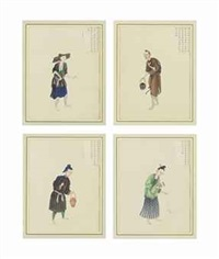 china trade album pictures (set of 4 works) by anonymous-chinese (18)