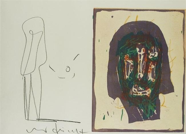5 radierungen und 1 farbholzschnitt auf papier 6 works by markus lüpertz