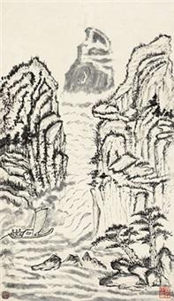 夏山图 立轴 纸本 by lin sen