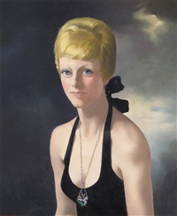 young woman with a st. george pendant by anna katrina zinkeisen