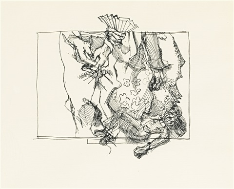 drawing after watteau iii by lucian freud