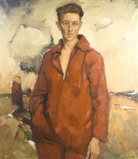 autoportrait devant l'escaut by oscar verpoorten