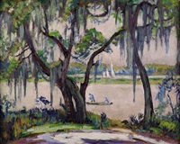 view of the back bay, biloxi by marie atkinson hull