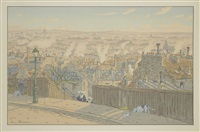 paris vu de montmartre (from paysages parisi) by henri rivière