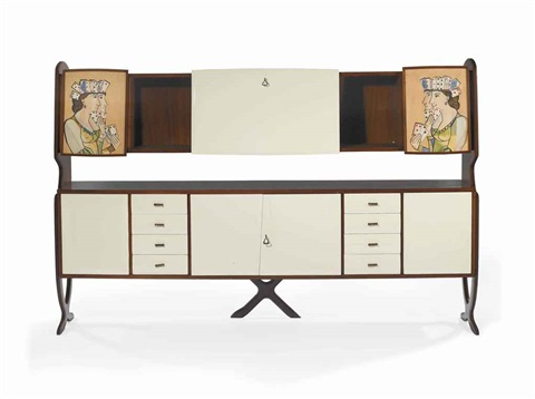 unique credenza by gio ponti and piero fornasetti