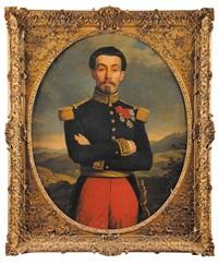 portraits du général de lorencez et de son épouse (pair) by alexandre-francois caminade