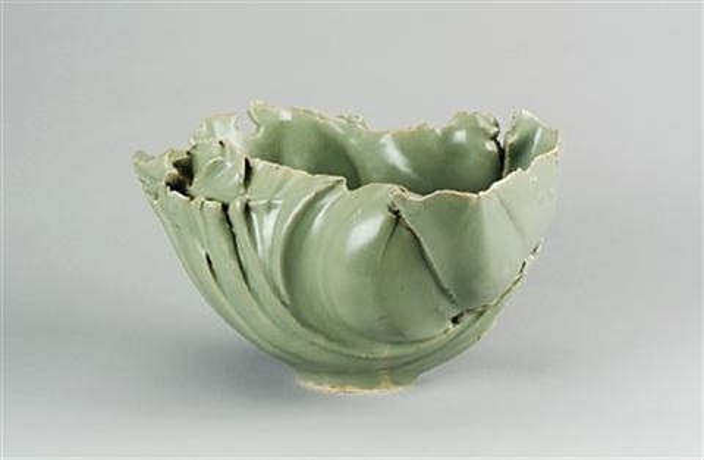 a large celadon bowl form by jean francois fouilhoux
