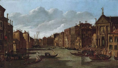 the grand canal venice looking south east from san stae to the fabbriche nuove di rialto by canaletto