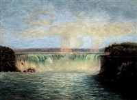 a view of the horseshoe falls, niagara falls by sutherland macklem