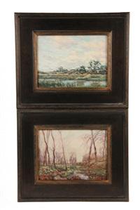 spring stream (+ summer sky; 2 works) by henry rodman kenyon