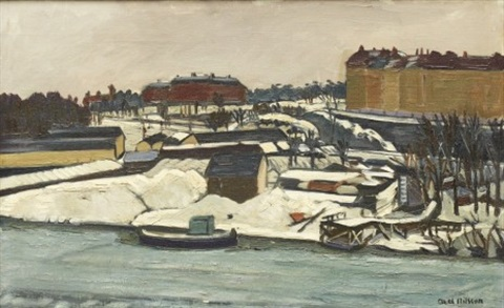 utsikt mot karlberg vinter by axel nilsson
