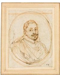 portrait of a man by francesco albani
