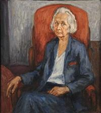 porträt gabriele münter by engelbert hilbich