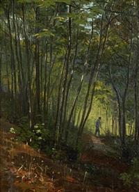 vista de bosque com figura by alfredo keil
