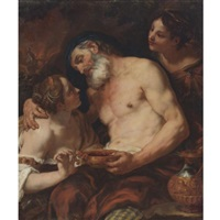 lot and his daughters by johann franz michael rottmayr