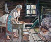 washerwoman by orvo raatikainen