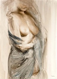 a standing female nude by jan asselbergs