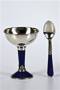 pokal und löffel (set of 2) by oskar woldemar pihl