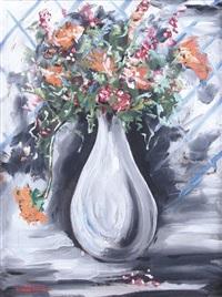 fiori con vaso grigio by cesare andreoni