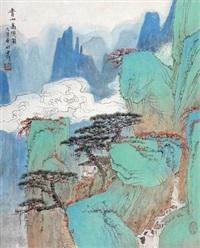 青山高隐图 by xu jianming