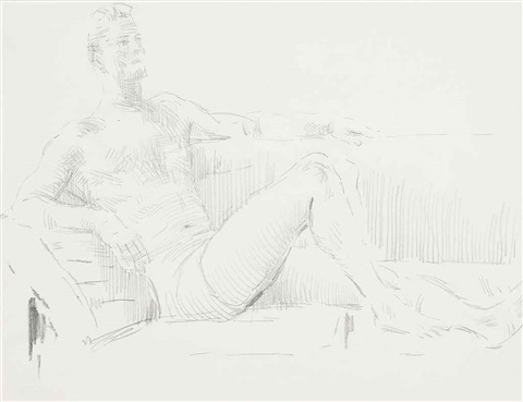 kin reclining on a sofa and kin seated 2 works by cecil beaton