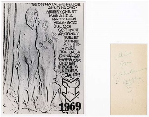 Ohne Titel New Years greeting card 1969 wphoto by Yoko Ono and John ...