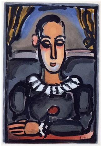 pierrot noir by georges rouault