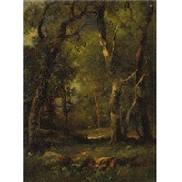 a sunny day in the woods by charles linford
