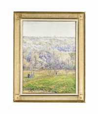 paysage by gustave camille gaston cariot