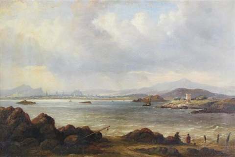 a view of edinburgh by henry g duguid