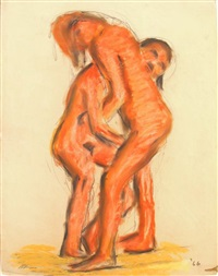 two nudes i by bob thompson