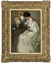 a lady at her dressing table by mary g. archer
