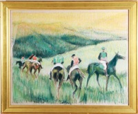 gold cup at great meadow (after degas) by daphne von baur