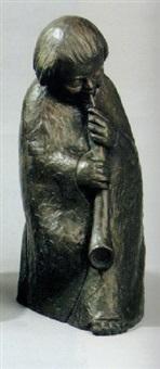 flöte blasendes kind by fidelis bentele