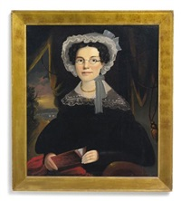 portrait of mrs. eliza walchon of bath, maine by william matthew prior