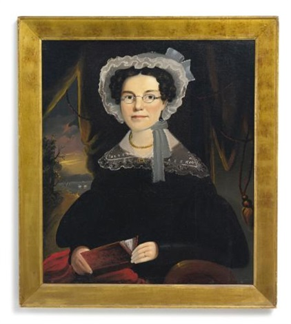 portrait of mrs eliza walchon of bath maine by william matthew prior