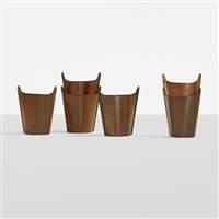 oval wastepaper baskets (set of 6) by p.s. heggen