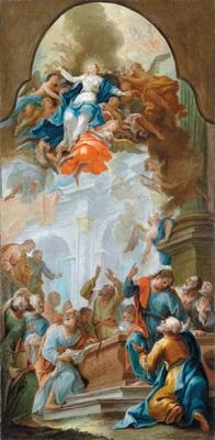 bozzetto für eine himmelfahrt mariens by cosmas damian asam