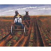 spring plowing by santos zingale