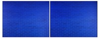 double blue (diptych) by annette lemieux