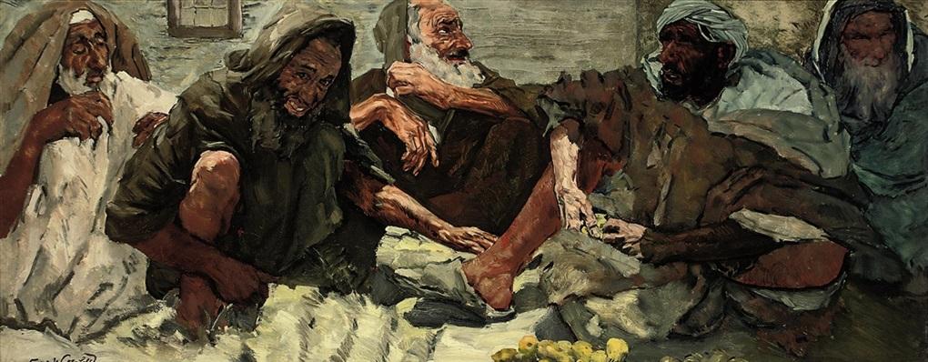 in the bazaar by erich wolsfeld
