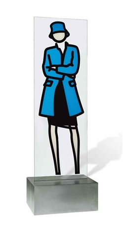 this is monique (glass) 3 by julian opie