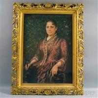 portrait of mary ann wilcox tuttle by carle john blenner