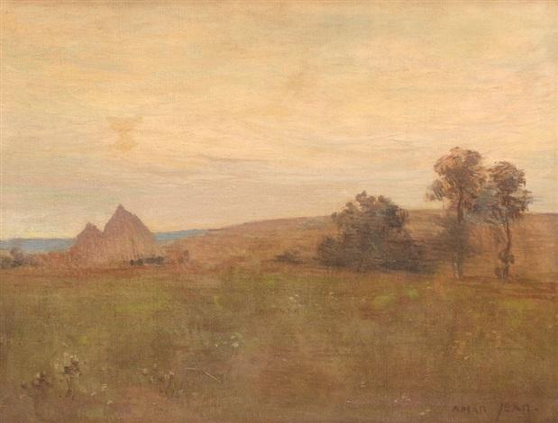 romantic landscape by edmond françois aman jean