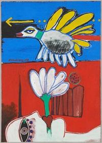 l'oiseau bleu by corneille
