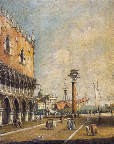 piazzetta di san marco by francesco guardi
